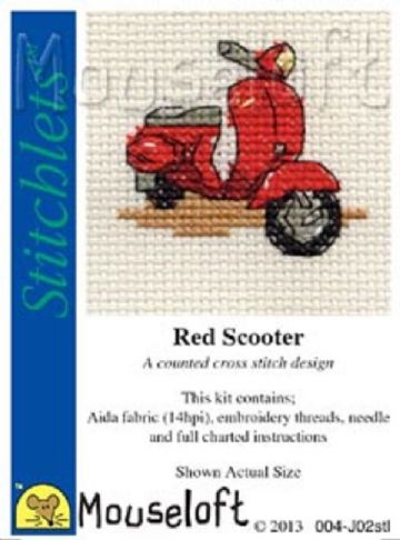 Mouseloft Stitchlets Red Scooter